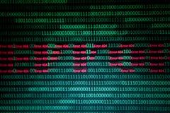 Αριθμητικός συνεχής, abctract στοιχεία στο δυαδικό κώδικα, δίνει την κατάρριψη τεχνολογίας στοκ εικόνα με δικαίωμα ελεύθερης χρήσης