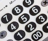 Αριθμητικό άσπρο αριθμητικό πληκτρολόγιο Στοκ φωτογραφία με δικαίωμα ελεύθερης χρήσης