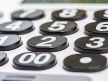 Αριθμητικό άσπρο αριθμητικό πληκτρολόγιο Στοκ Φωτογραφία