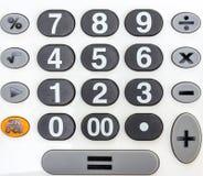 Αριθμητικό άσπρο αριθμητικό πληκτρολόγιο Στοκ Φωτογραφίες