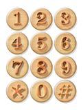 Αριθμητικό κουμπί Στοκ Εικόνες