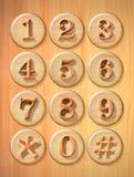 Αριθμητικό κουμπί Στοκ Φωτογραφία