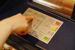 αριθμητικό πληκτρολόγιο του ATM Στοκ Εικόνες