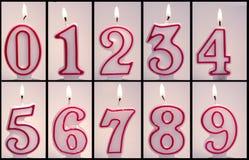 Αριθμητικό LIT κεριών γενεθλίων Στοκ φωτογραφίες με δικαίωμα ελεύθερης χρήσης
