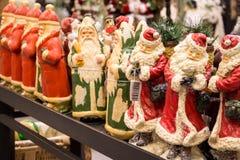Αριθμοί Άγιου Βασίλη της αγοράς Χριστουγέννων Στοκ φωτογραφίες με δικαίωμα ελεύθερης χρήσης