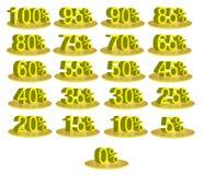 αριθμοί έκπτωσης Στοκ Φωτογραφία