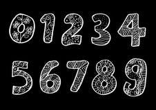 Αριθμοί 0 έως 9 από διακοσμημένος απεικόνιση αποθεμάτων