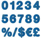 Αριθμοί αλφάβητου τζιν Στοκ Εικόνες