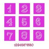 Αριθμοί (απολογισμός εικονιδίων) Στοκ Εικόνες