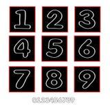 Αριθμοί (απολογισμός εικονιδίων) Στοκ φωτογραφίες με δικαίωμα ελεύθερης χρήσης