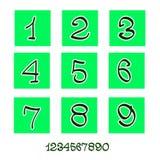 Αριθμοί (απολογισμός εικονιδίων) Στοκ εικόνα με δικαίωμα ελεύθερης χρήσης