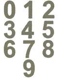 Αριθμοί από 0 έως 9 φιαγμένοι από παλαιός και βρώμικος Στοκ Φωτογραφία