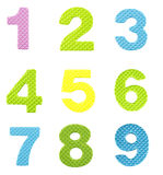 Αριθμοί από το ένα έως εννέα Στοκ φωτογραφίες με δικαίωμα ελεύθερης χρήσης