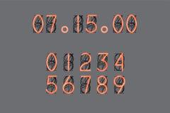 Αριθμοί για το εκλεκτής ποιότητας ρολόι λαμπτήρων ύφους steampunk επίσης corel σύρετε το διάνυσμα απεικόνισης ελεύθερη απεικόνιση δικαιώματος