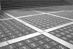 Αριθμοί για το πεζοδρόμιο στις Κάτω Χώρες Στοκ εικόνα με δικαίωμα ελεύθερης χρήσης