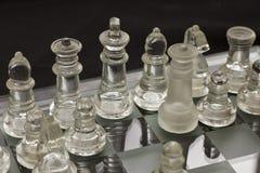 Αριθμοί γυαλιού σκακιού στοκ εικόνες με δικαίωμα ελεύθερης χρήσης