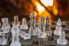 Αριθμοί γυαλιού σκακιού στοκ εικόνες