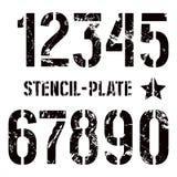 Αριθμοί διάτρητο-πιάτων στο στρατιωτικό ύφος Στοκ Φωτογραφία