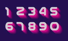 Αριθμοί καθορισμένοι διανυσματικοί Στοκ Εικόνες