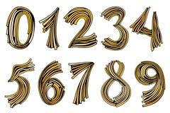 Αριθμοί καθορισμένοι υπό εξέταση συρμένοι Στοκ εικόνες με δικαίωμα ελεύθερης χρήσης