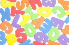 Αριθμοί και επιστολές Στοκ εικόνες με δικαίωμα ελεύθερης χρήσης
