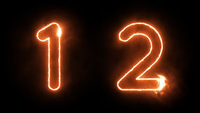 αριθμοί καψίματος Στοκ φωτογραφία με δικαίωμα ελεύθερης χρήσης
