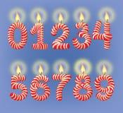 Αριθμοί κεριών διακοπών Στοκ εικόνες με δικαίωμα ελεύθερης χρήσης
