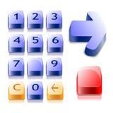 αριθμοί κουμπιών Στοκ Φωτογραφίες