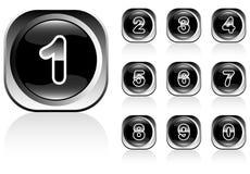 αριθμοί κουμπιών Στοκ Εικόνες