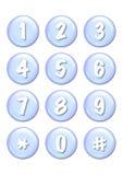 αριθμοί κουμπιών διανυσματική απεικόνιση