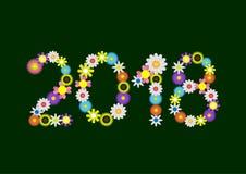 2018 αριθμοί λουλουδιών διανυσματική απεικόνιση
