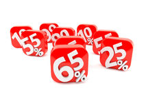 Αριθμοί με τα σύμβολα τοις εκατό Στοκ φωτογραφία με δικαίωμα ελεύθερης χρήσης