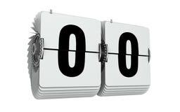 Αριθμοί μηδέν κτυπήματος απεικόνιση που απομονώνεται τρισδιάστατη στο λευκό ελεύθερη απεικόνιση δικαιώματος