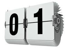Αριθμοί μηδέν κτυπήματος και ένας απεικόνιση που απομονώνεται τρισδιάστατη στο λευκό απεικόνιση αποθεμάτων