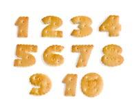 αριθμοί μπισκότων Στοκ Φωτογραφίες