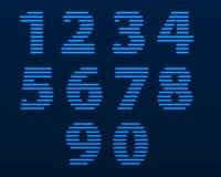 Αριθμοί νέου επίσης corel σύρετε το διάνυσμα απεικόνισης Στοκ Εικόνα