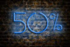 Αριθμοί 50 νέου σε ένα υπόβαθρο τουβλότοιχος Εμπόριο έννοιας, εκπτώσεις διανυσματική απεικόνιση