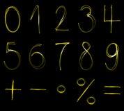Αριθμοί νέου Στοκ φωτογραφία με δικαίωμα ελεύθερης χρήσης