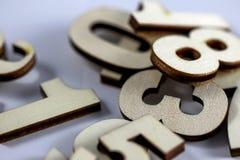 αριθμοί ξύλινοι Στοκ φωτογραφία με δικαίωμα ελεύθερης χρήσης