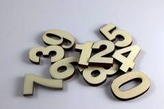 αριθμοί ξύλινοι Στοκ φωτογραφίες με δικαίωμα ελεύθερης χρήσης
