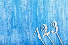 αριθμοί ξύλινοι Στοκ Εικόνες