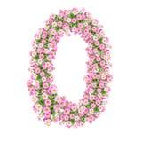 Αριθμοί 0 λουλουδιών Στοκ Φωτογραφίες