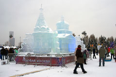 Αριθμοί πάγου στη Μόσχα Στοκ φωτογραφίες με δικαίωμα ελεύθερης χρήσης