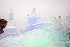 Αριθμοί πάγου στη Μόσχα Στοκ εικόνες με δικαίωμα ελεύθερης χρήσης