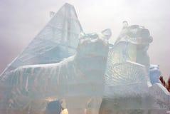 Αριθμοί πάγου στη Μόσχα Στοκ εικόνα με δικαίωμα ελεύθερης χρήσης