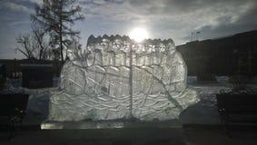 Αριθμοί πάγου στο πάρκο στοκ φωτογραφία