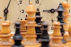 Αριθμοί παιχνιδιών σκακιού με το ρολόι Στοκ Εικόνες