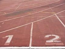 Αριθμοί παρόδων διαδρομής αθλητισμού Στοκ εικόνες με δικαίωμα ελεύθερης χρήσης