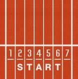 Αριθμοί παρόδων διαδρομής αθλητισμού Στοκ εικόνα με δικαίωμα ελεύθερης χρήσης