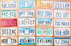 Αριθμοί πινακίδας αυτοκινήτου Στοκ Εικόνες